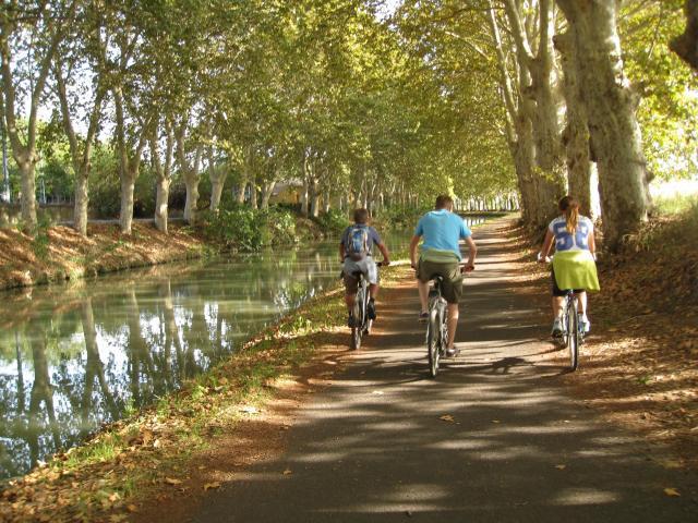 À vélo au Canal du Midi
