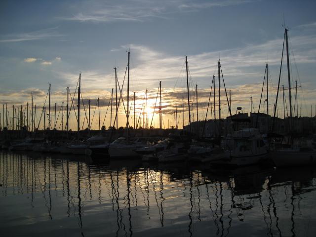 Coucher de soleil au Cap d'Agde marina